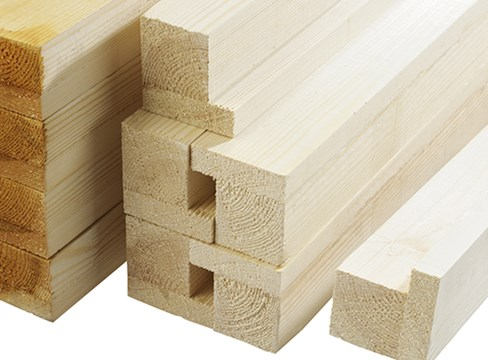 Wood for the joinery industry