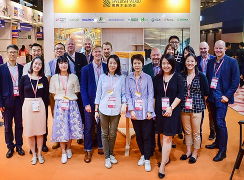 Shanghai fair confirms the furniture industry's interest in Swedish sawn timber