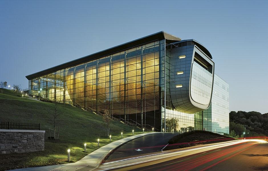 Egg-shaped concert hall
