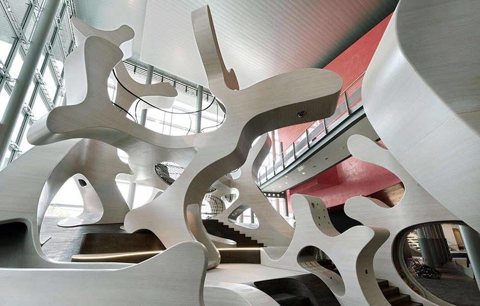 Sinuously playful sculpture