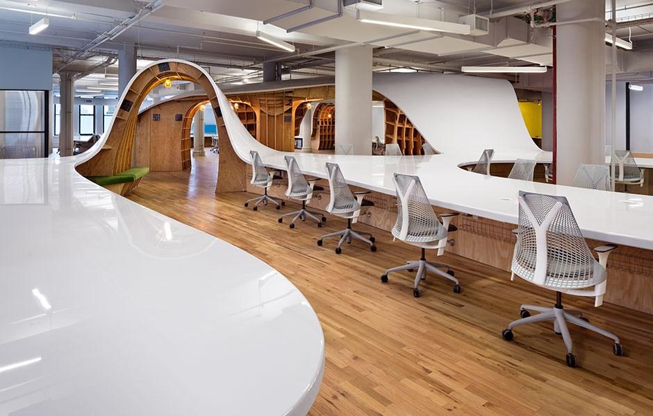Seamless desking