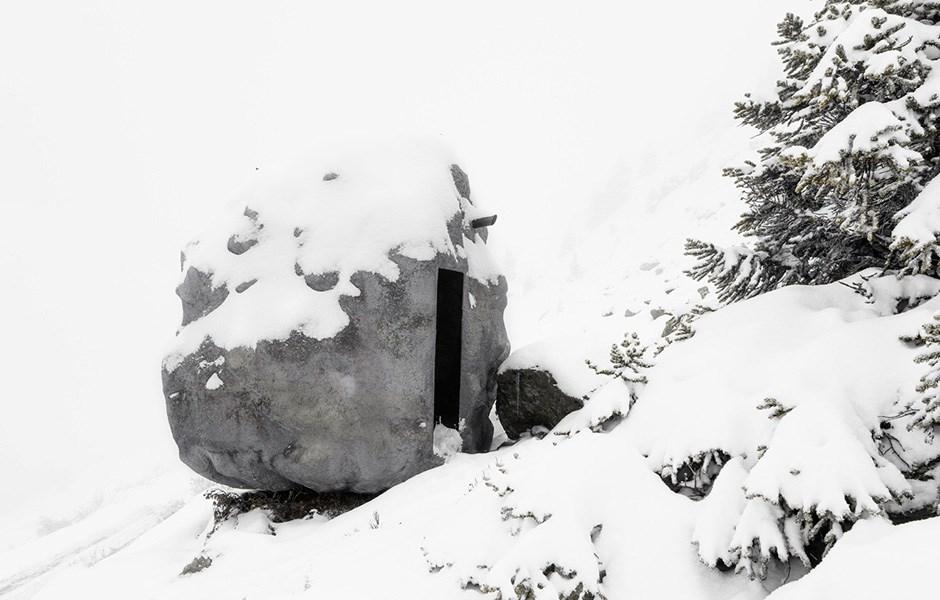 Wooden boulder