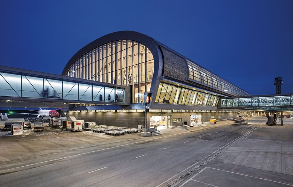 Natural material at the world's greenest airport