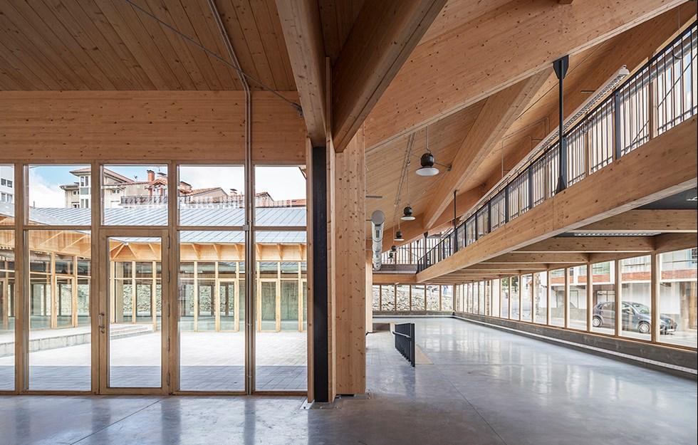 Natural shade in spacious cultural centre
