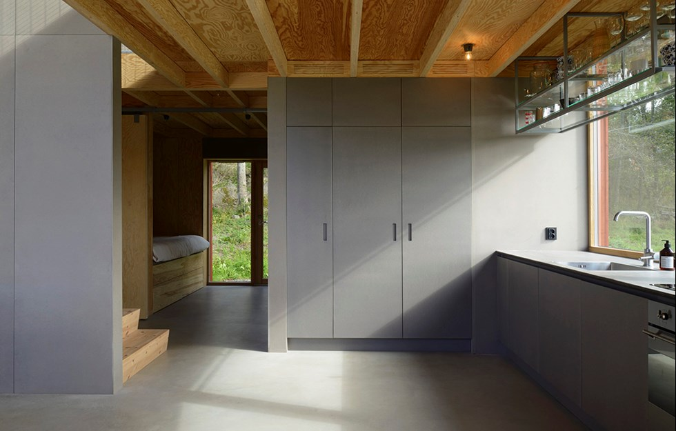 An open and sociable house with filtered daylight
