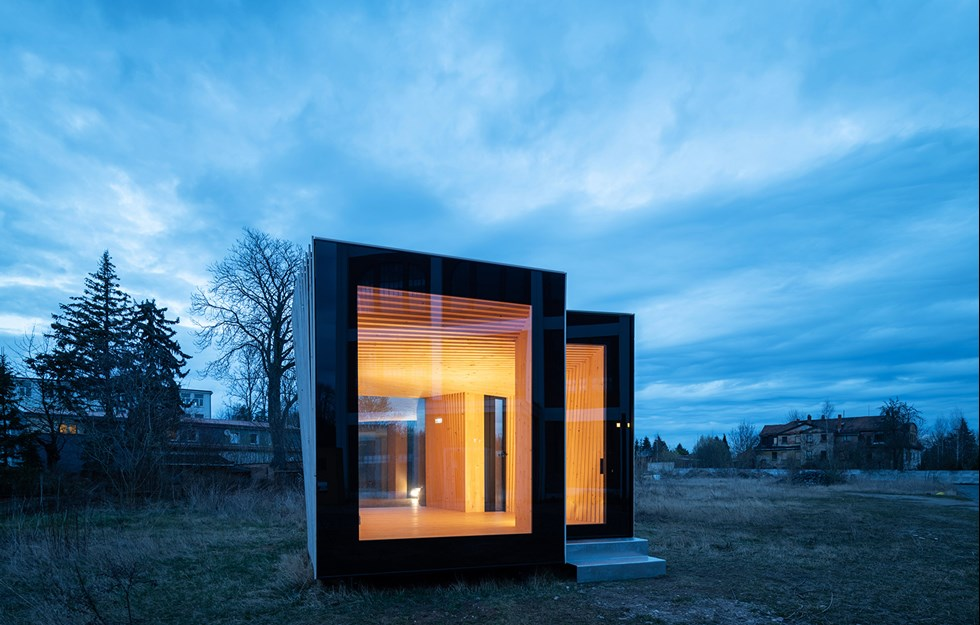 Microhouse built entirely in wood