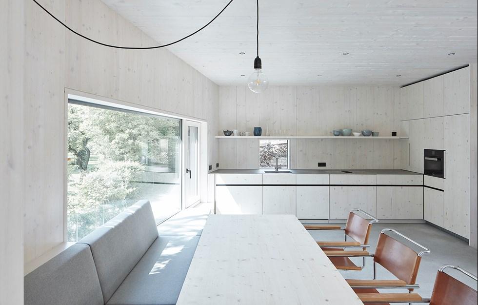 Modern home in rustic setting
